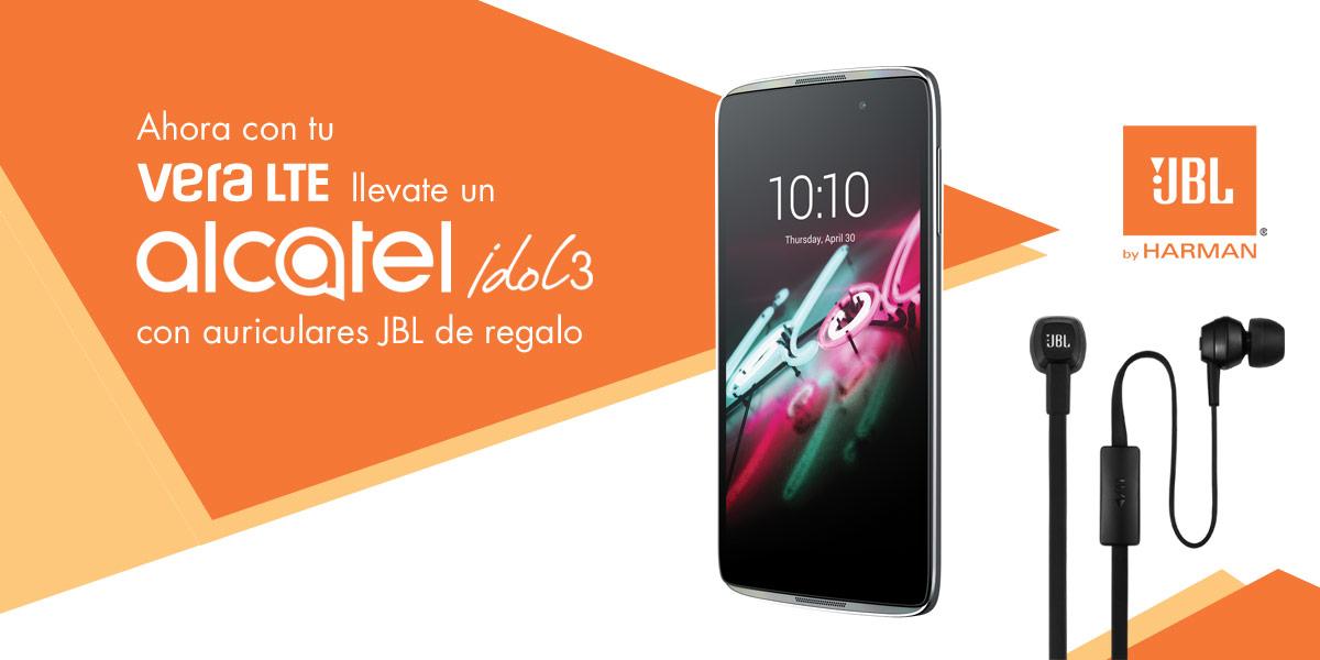 Alcatel Idol 3 con auriculares JBL