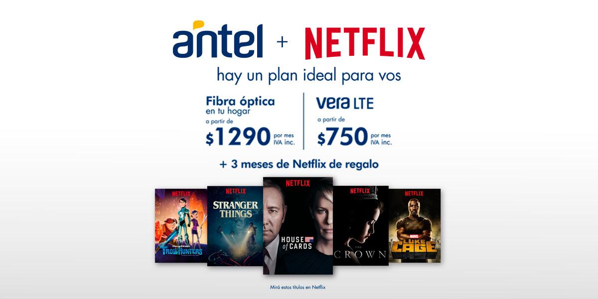 Antel + Netflix - hay un plan ideal para vos
